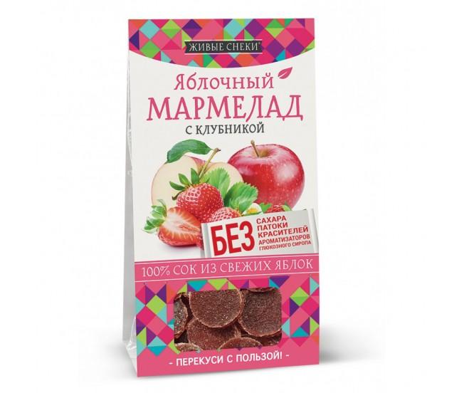 """Мармелад яблочный с клубникой """"Живые снеки"""", 90г"""