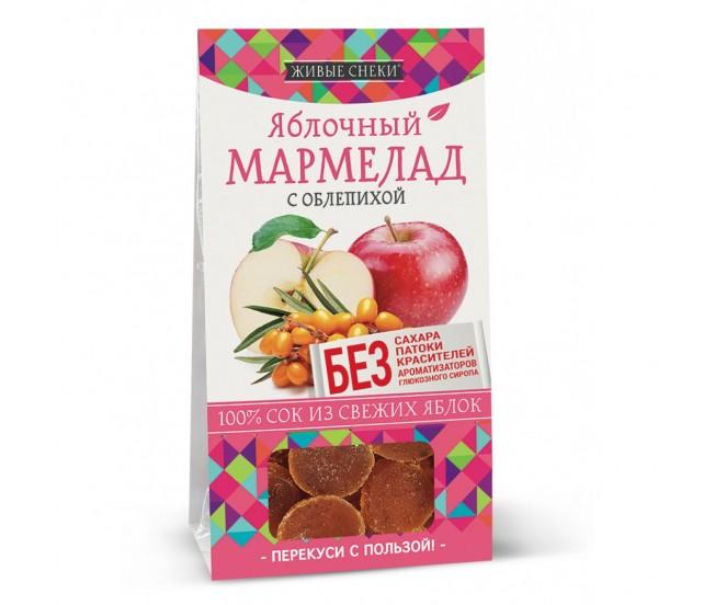 """Мармелад яблочный с облепихой """"Живые снеки"""", 90г"""