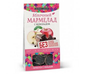 """Мармелад яблочный с шоколадом """"Живые снеки"""", 90г"""