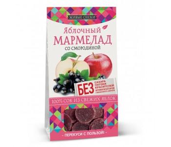 """Мармелад яблочный со смородиной """"Живые снеки"""", 90г"""