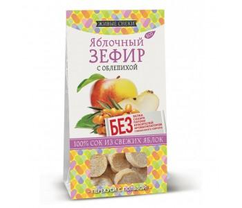 """Зефир яблочный с облепихой """"Живые снеки"""", 60г"""