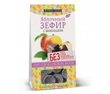"""Зефир яблочный с шоколадом """"Живые снеки"""", 60г"""