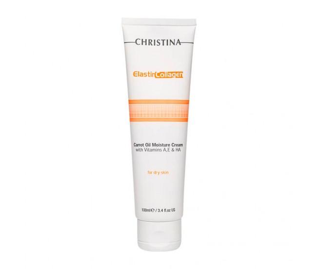 Увлажняющий крем с морковным маслом для сухой кожи, 100 мл/Christina Elastin Collagen Carrot Oil Moisture Cream