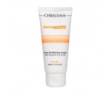 Увлажняющий крем с морковным маслом для сухой кожи, 60 мл/Christina Elastin Collagen Carrot Oil Moisture Cream