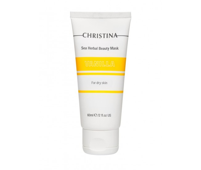 Маска красоты ванильная для сухой кожи, 60мл/Christina Sea Herbal Beauty Mask Vanilla