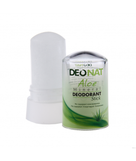 DeoNat, Кристалл-дезодоорант с натуральными вытяжками трав и соком алоэ, 60 гр