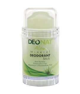 DeoNat, Кристалл-дезодоорант с натуральными вытяжками трав и соком алоэ, 80гр