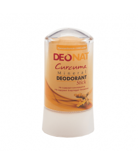 DeoNat, Кристалл-дезодорант с экстрактом куркумы, 60 гр