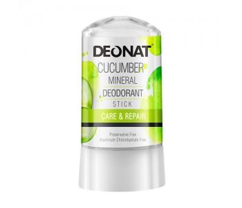 DeoNat, Кристалл-дезодорант с экстрактом огурца, 60гр