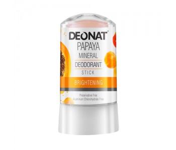 DeoNat, Кристалл-дезодорант с экстрактом папайи, 60гр