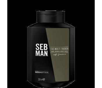 Шампунь 3 в 1 для ухода за волосами, бородой и телом, 250 мл/Seb Man THE MULTITASKER
