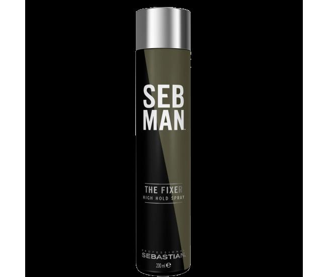 Моделирующий лак для волос сильной фиксации, 200мл/Seb Man THE FIXER