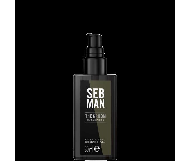 Масло для ухода за волосами и бородой, 30мл/Seb Man THE GROOM