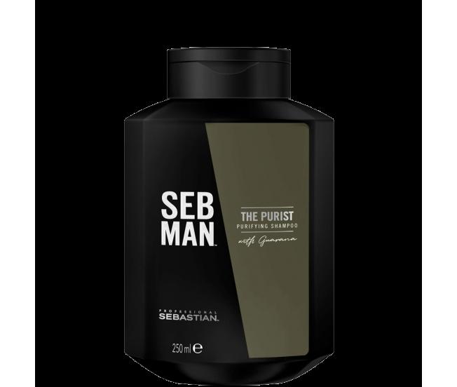 Очищающий шампунь для волос, 250мл/Seb Man THE PURIST