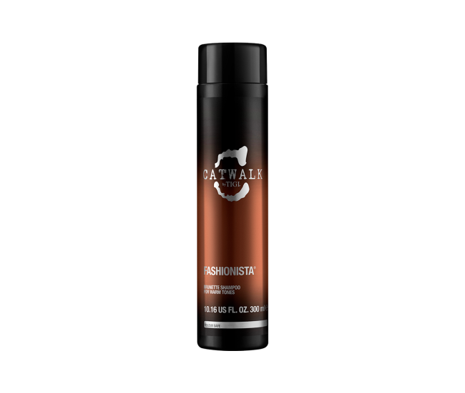 Тонирующий шампунь для брюнеток, 300мл/Tigi Catwalk Fashionista Brunette Shampoo For Warm Tones