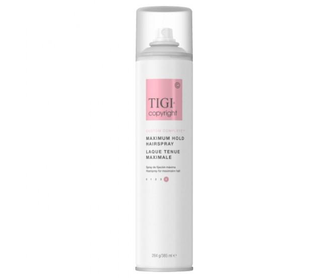 Лак суперсильной фиксации волос, 385мл/Tigi Copyright Maximum Hold Hairspray