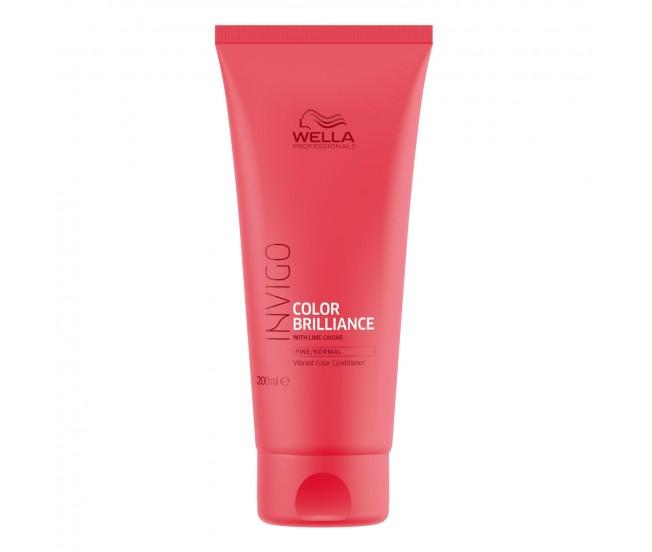 Бальзам-уход для защиты цвета окрашенных нормальных и тонких волос, 200мл/Wella Invigo Color Brilliance