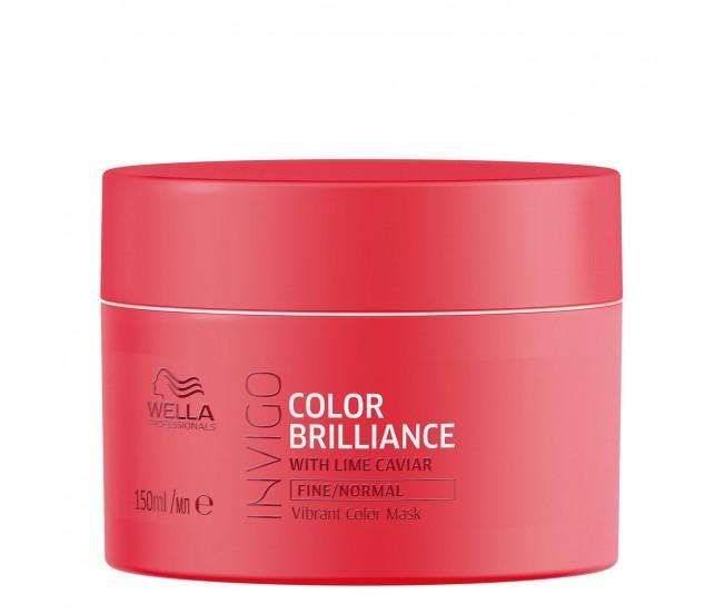 Маска-уход для защиты цвета окрашенных нормальных и тонких волос, 150мл/Wella Invigo Color Brilliance